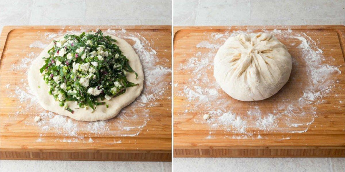 Осетинський пиріг з бадиллям буряків