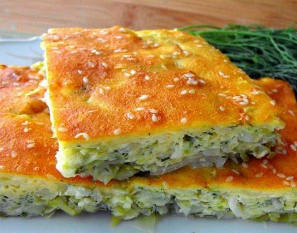 Вкусный пирог с капустой на кефире рецепт