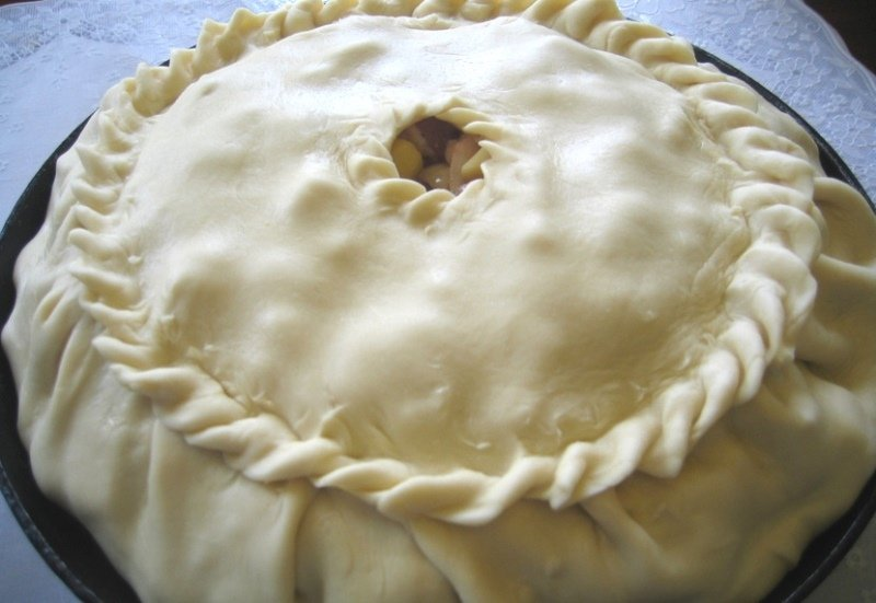 пирог с картошкой без мяса