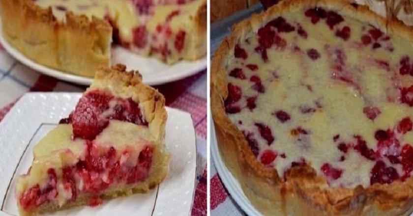 Пиріг з малиною - готуємо з покроковими фото