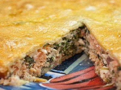 Пирог с рыбой в духовке