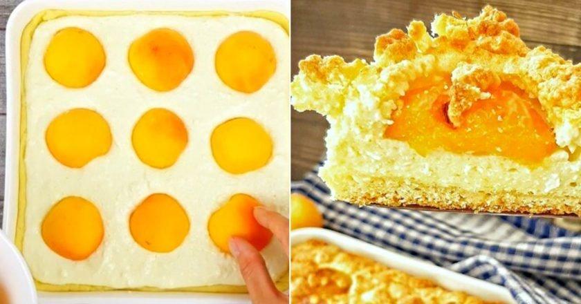 Пиріг з сиром і абрикосами в духовці подивитися рецепт