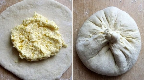Пирог с творогом на сковороде