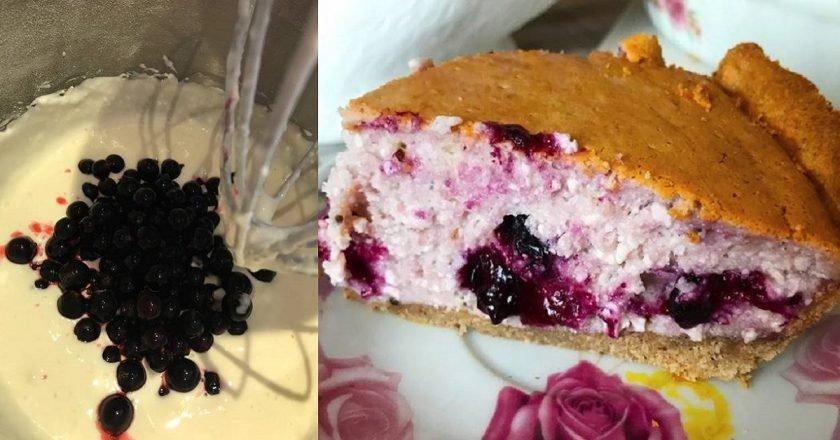 Пісочний пиріг з сирно-ягідною начинкою подивитися рецепт