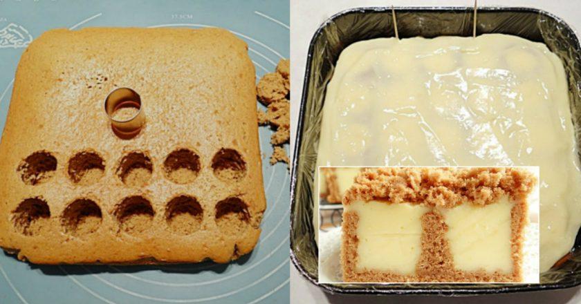 Бісквітний пиріг з ванільним пудингом подивитися рецепт
