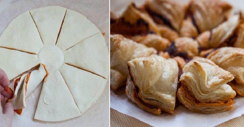 Пиріг з шинкою і сиром - готуємо з покроковими фото