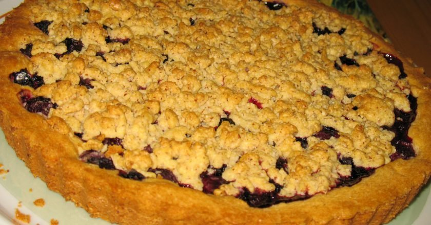 Пиріг зі смородиновим варенням - готуємо з покроковими фото