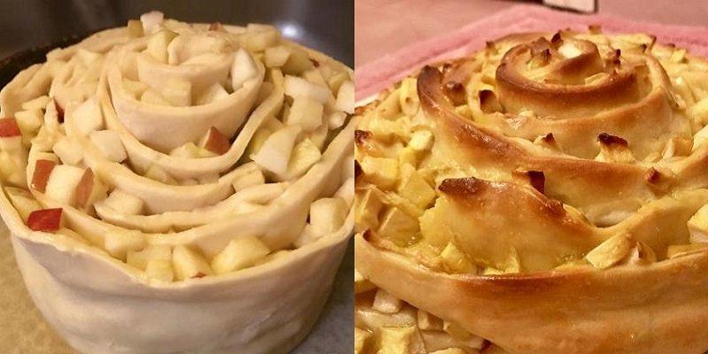 яблочный пирог-улитка