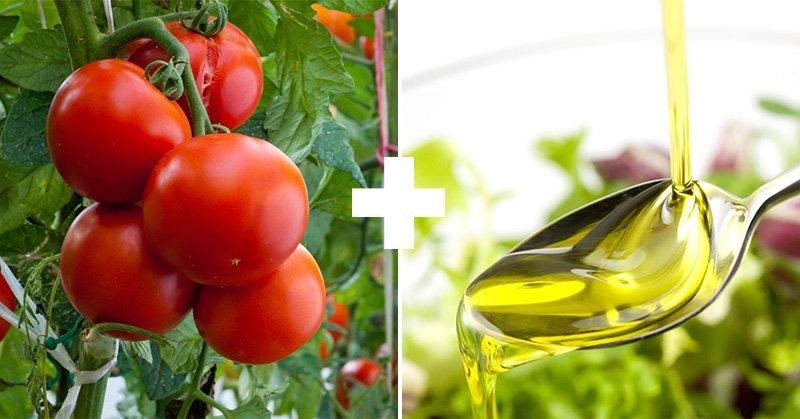 помидоры и оливковое масло