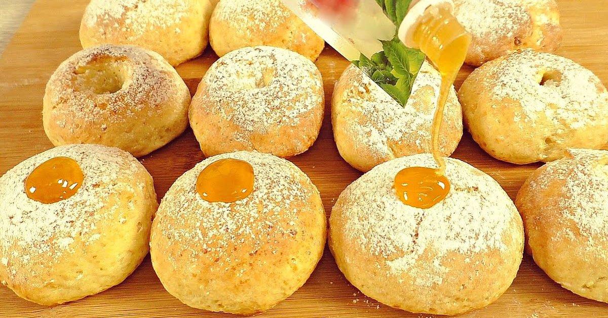 Пончики без смаження і без дріжджів подивитися рецепт