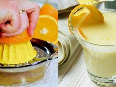 Поссет с апельсиновым соком