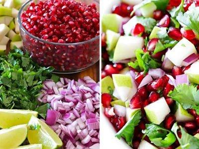 Праздничный постный салат