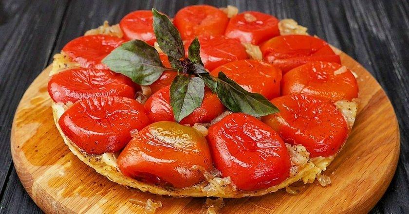 Прованский пирог с помидорами