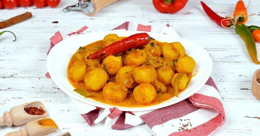 Пряна картопля масала з індійськими спеціями подивитися рецепт
