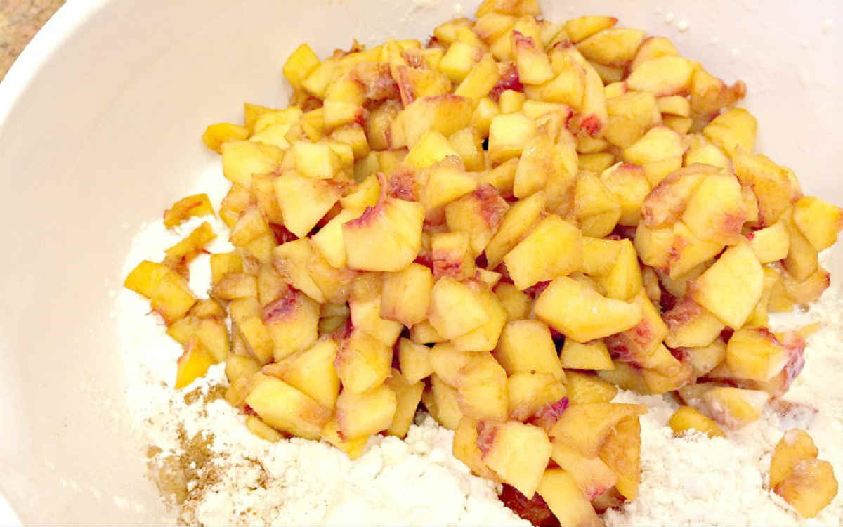 Теннесийский пудинг з персиками