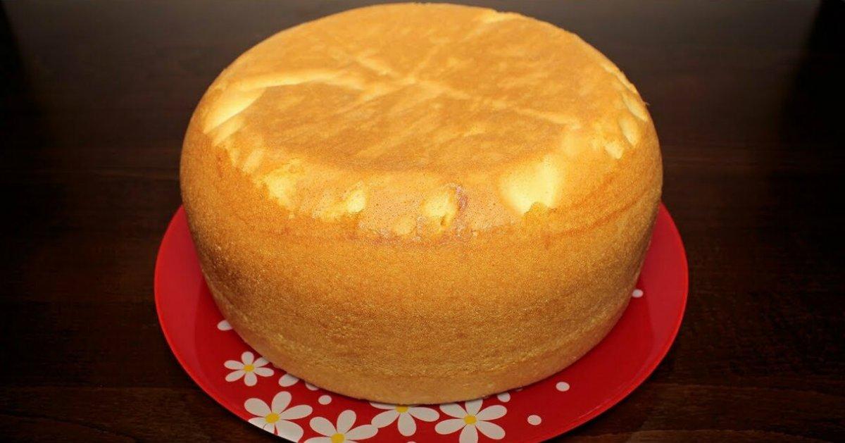 Как приготовить пышный бисквит на кефире без яиц