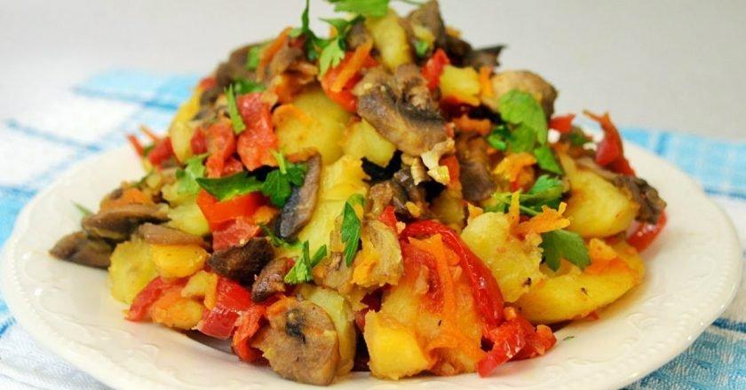 Рагу из овощей с шампиньонами
