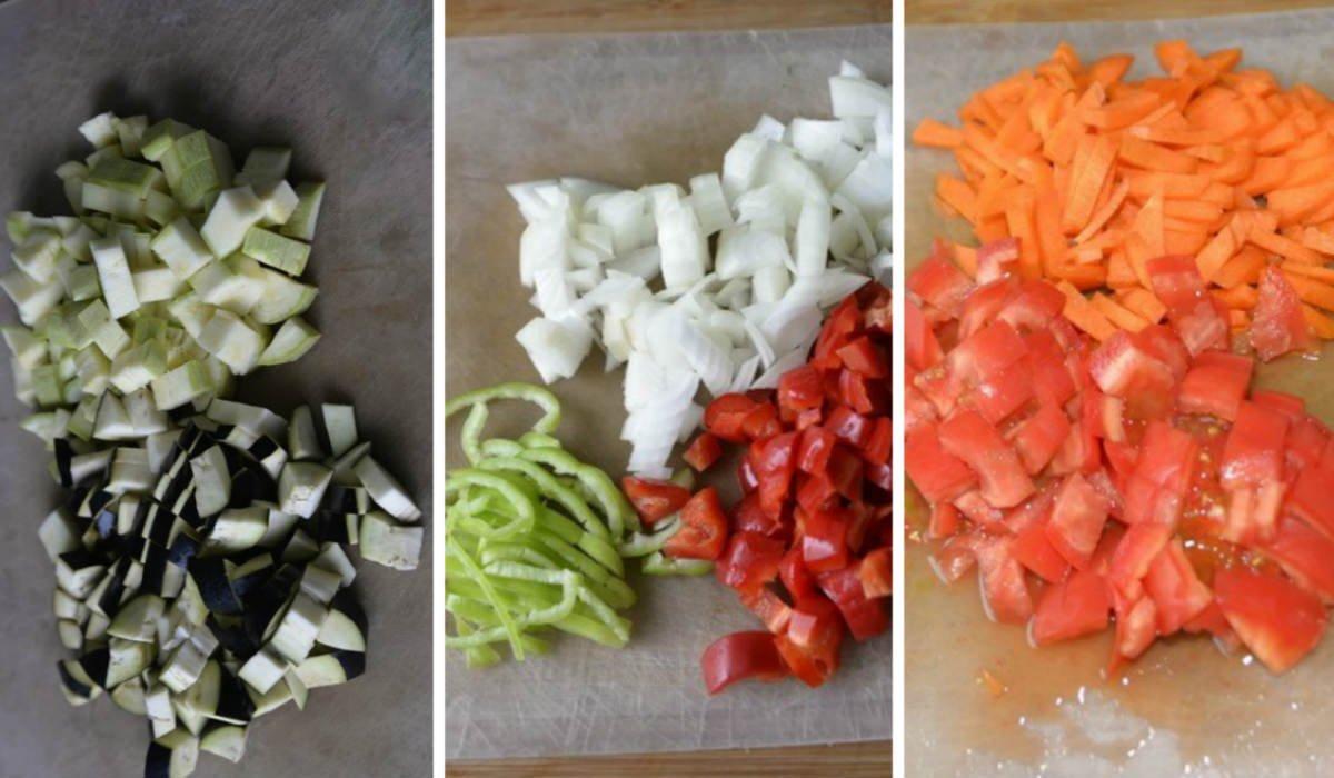 Овочеве рагу в рукаві в духовці