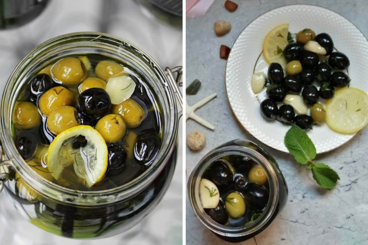 Рецепт оливок з лимоном і часником