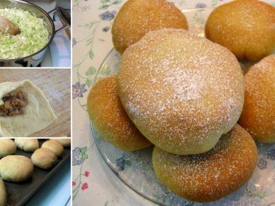 Рецепт сладких булочек с капустой