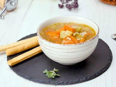 Рисовый суп с лимонным соком
