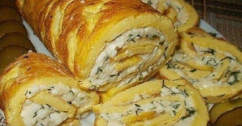 Рулет из яйца и майонеза с сыром пошаговый