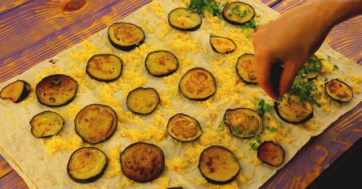 рулет с баклажанами и сыром