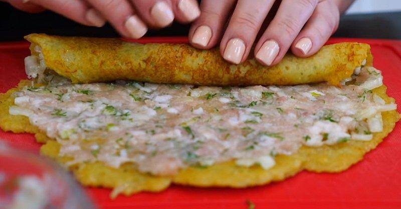 блюдо из картофеля и фарша