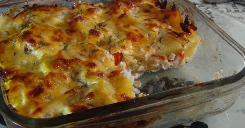 Риба по-французьки з помідорами в духовці подивитися рецепт