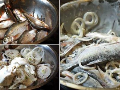 Жареная речная рыба по-узбекски