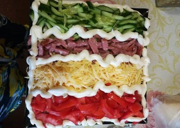 овощной салат с сыром