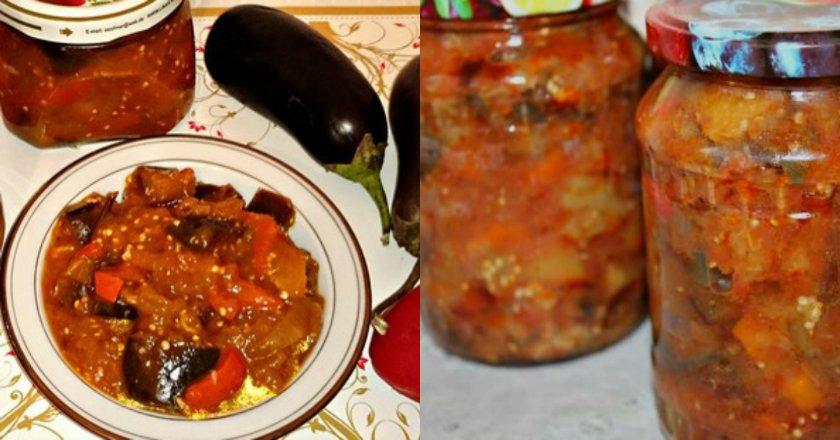 Салат из баклажанов на зиму картинки