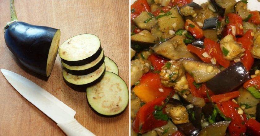 Салат з баклажанів на зиму - готуємо з покроковими фото