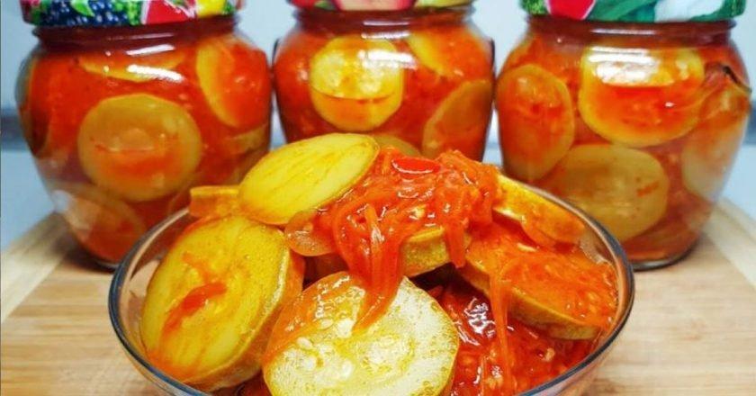 Салат з кабачків на зиму подивитися рецепт