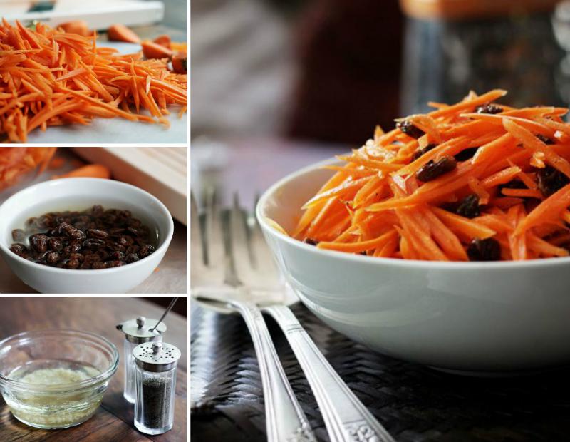 вегетарианский морковный салат