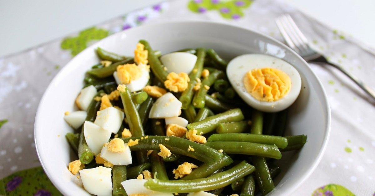 Диетические салаты из стручковой фасоли рецепты