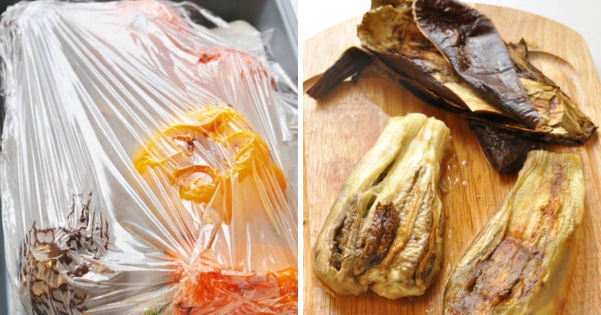 как очистить запеченные овощи