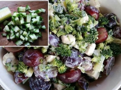 Салат с брокколи и виноградом