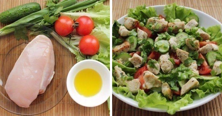 Салат с куриной грудкой без майонеза рецепт