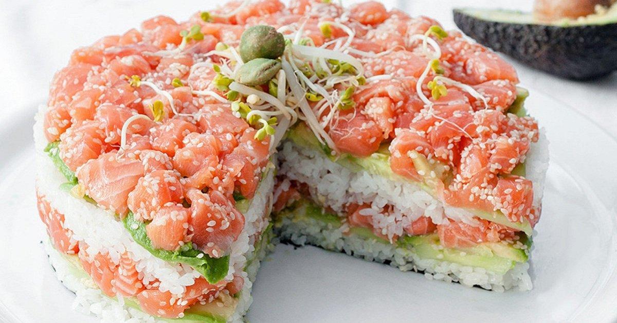 Салат как суши рецепт с