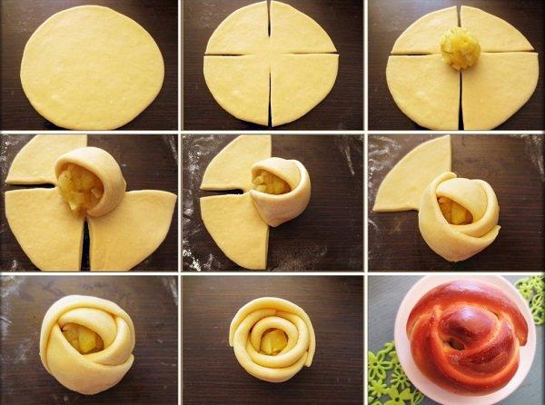 как оформить сдобное тесто