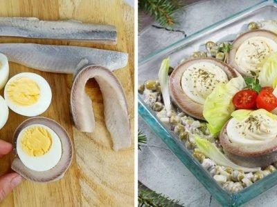 Сельдь с яйцами