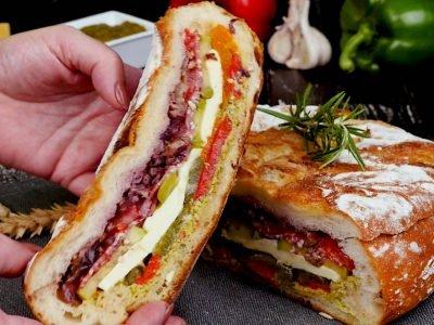 Сэндвич в хлебе