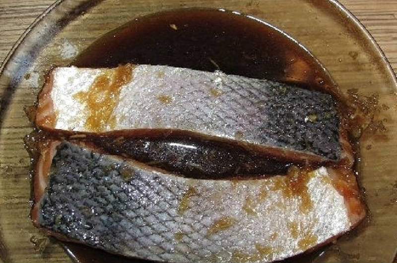 Шашлик з риби в духовці