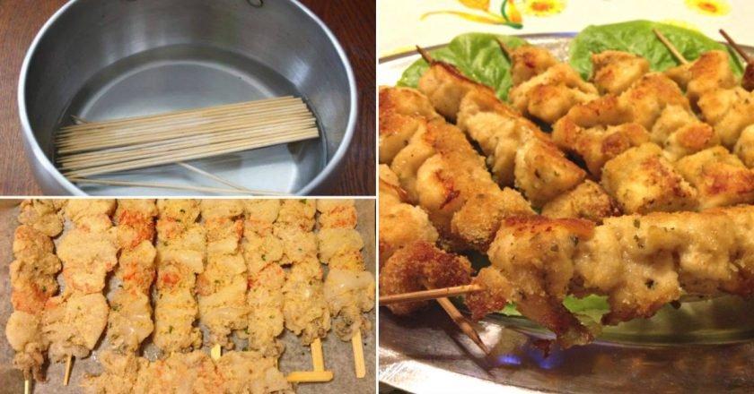 Шашлик з риби в духовці подивитися рецепт