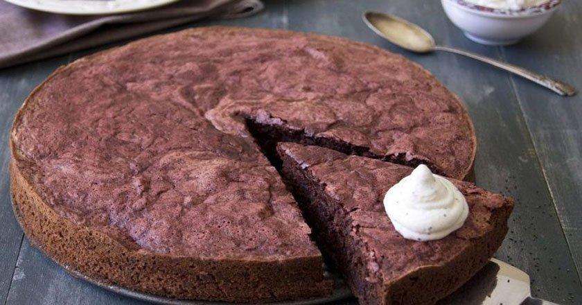Шоколадный простой пирог рецепт