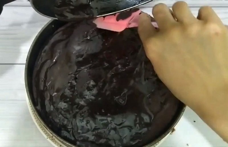 пирог с глазурью