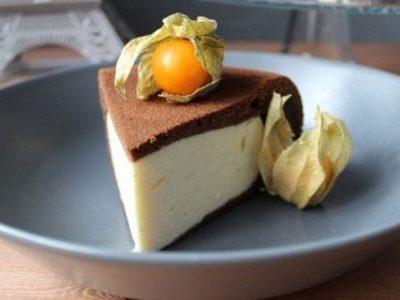 Шоколадный пирог-ватрушка
