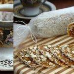 Сладкая колбаска из сухофруктов