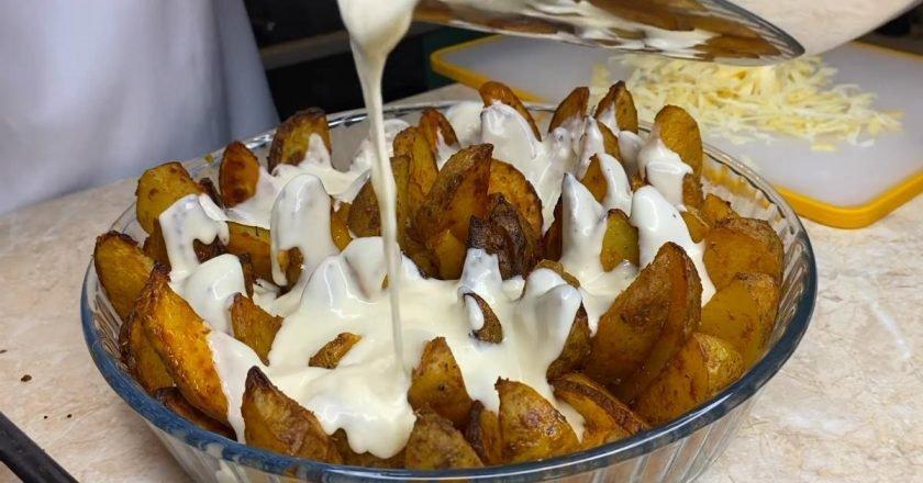 Вершкова картопля в духовці подивитися рецепт
